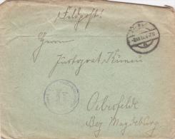 Feldpost WW1: Feldartillerie Regiment Nr. 213 Dtd 2.10.1917 - Cover Only (A377) - Militaria