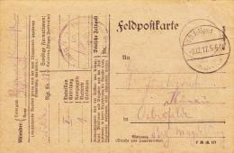 Feldpost WW1: Feldartillerie Regiment Nr. 213 Dtd 2.12.1917 - Plain Postcard   (A377) - Militaria