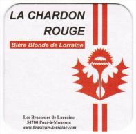 SOUS-BOCK LE CHARDON ROUGE BIERE BLONDE DE LORRAINE LES BRASSEURS DE LORRAINE 54700 PONT-A-MOUSSON GAMBRINUS FRANCE 2006 - Sous-bocks