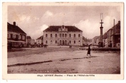 CPA LEVIER PLACE DE L'HOTEL DE VILLE - Other Municipalities
