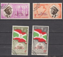 BURUNDI, 1963, 1st Anniversary Of Independence, With Colours Changed And Overprinted,  USED (o) - 1962-69: Usati