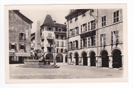 74 Annecy N°1401 La Place Notre Dame Fontaine Voir ZOOM Fourneier Frères Et Cie Affiches Pub Rasurel - Annecy