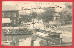 CARTOLINA VIAGGIATA BELGIO ITALIA - HERSTAL - Pont N° 2 Et Rue Marexhe - ANNULLO TORINO 19 - 08 - 1903 - Herstal