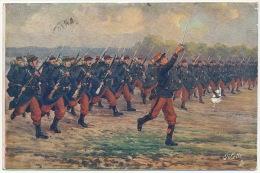 WWI  Guerre 1914 L Infanterie Edition Tuck Voyagé 1915 Baionnette Au Canon - Guerre 1914-18