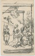 Dessin Par A. Willette 1915 Mariane Accueillant Les Refugiés Malheur Misere - Patriotiques