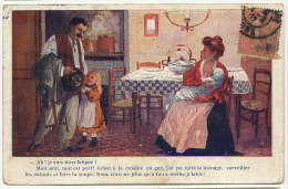 Pub Pour La Cuisine Au Gaz  Gain De Temps Homme Fatigué , Nourrice - Publicité