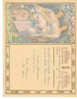 Belgique Telegramme Telegram Bruxelles - Dessin Montald 27. 1937 à Lambillotte Beauvais, La Hestre Plaine Saint Pierre