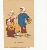 Marchande De Pomme Normandie Adam Et Eve Illustration Renaudin - Händler