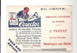 """Buvard Corector """"enlève Les Taches D'encre"""" Offert Par La Librairie-Papeterie Des Ecoles J. Protat à Boulogne Sur Seine - Stationeries (flat Articles)"""