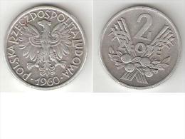 Polen 2 Zloty 1960  Km 46   Vf+ - Poland