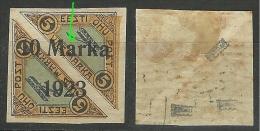 Estland Estonia 1923 Michel 43 * + ERROR Abart Überdruck Unten Verschoben E: 7 - Estland