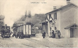 01 LHUIS LA GARE TRAIN TRAM - Non Classés