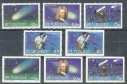 ASTROLOGIA - SAN VINCENTE 1986 - Yvert #913/16 (dentado Y Sin Dentar) - MNH ** - Astrologie
