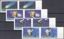 ASTROLOGIA - SAN VINCENTE 1986 - Yvert #913/16 (parejas Sin Dentar) - MNH ** - Astrologie