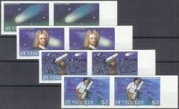 ASTROLOGIA - SAN VINCENTE 1986 - Yvert #913/16 (parejas Sin Dentar) - MNH ** - Astrología