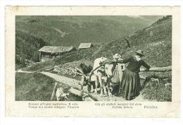 CARTOLINA   -  PAESAGGIO DI MONTAGNA- VIAGGIATA  ANNO 1912  - ITALIA - POESIA - Italy