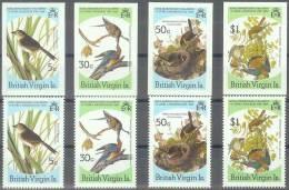AVES - ISLAS VÍRGENES 1985 - Yvert #535/38 (sin Dentar Y Dentados) - MNH ** - Águilas & Aves De Presa