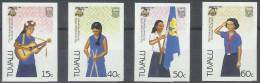SCOUTS - TAVALU 1985 - Yvert #327/30 (sin Dentar) - MNH ** - Movimiento Scout