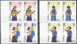 SCOUTS - TAVALU 1985 - Yvert #327/30 (parejas Sin Dentar) - MNH ** - Movimiento Scout