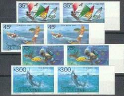 TURISMO - ST. VINCENT 1985 - Yvert #407/11 (Parejas Sin Dentar) - MNH ** - Vacaciones & Turismo
