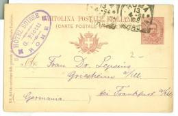 ITALY * HANDGESCHREVEN BRIEFKAART Uit 1894 Van ROMA Naar GRIESHEIM Am MAIN (7870c) - 1878-00 Umberto I