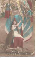 """14/18 BELLE PATRIOTIQUE """"JEANNE D'ARC ET MARIANNE"""" (ALSACE ET LORRAINE) (A LIRE) - Patrióticos"""