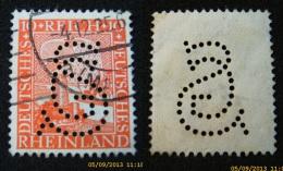 Dt. Reich - Rheiland - Perfin - Firmenlochung                                     (B195) - Deutschland
