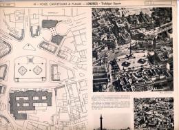 Vieux Papiers - Documents D´urbanisme - Londres - Trafalgar Square - Architecture