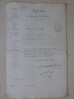 Comte De RAMBUTEAU, Balcon 14 Rue St Nicolas Paris, Lettre Avec Autographe 1842 ;  Ref 567 - Autographes