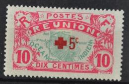 P 244 ++ RÉUNION 1916  HINGED / * - Réunion (1852-1975)