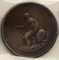 PIECE MONNAIE DEMI PENNY GRANDE BRETAGNE # GEORGE III # 1789 # - 1662-1816 : Anciennes Frappes Fin XVII° - Début XIX° S.