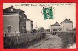 CPA: Lentilly (69)  Chemin De La Gare Et Quartier Des Villas - France