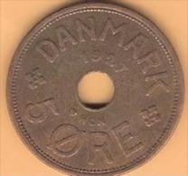 DENMARK # 5 ØRE  BRONZE FROM YEAR 1927 HCN - Denmark