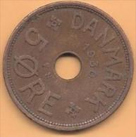 DENMARK # 5 ØRE  BRONZE FROM YEAR 1930 - Denmark
