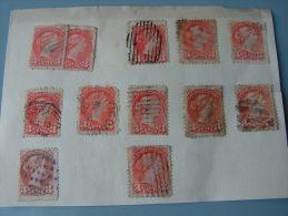 == Canada Lot ,  3 Cent Victoria , Very Fine Cancelations - 1851-1902 Victoria