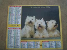 ALMANACH CALENDRIER POSTE FACTEUR 1996   VOSGES - Calendars