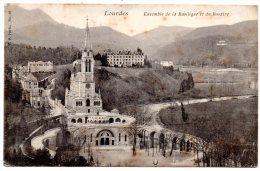 CP, 65, LOURDES, Ensemble De La Basilique Et Du Rosaire, Voyagé En 1904 - Lourdes