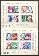 RUMANÍA 1983 - Yvert #H159/60 - MNH ** - 1948-.... Repúblicas