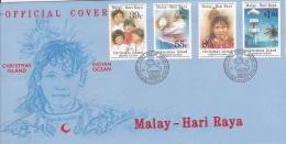 Christmas Island 1989 Malay Hari Raya FDC - Christmas Island
