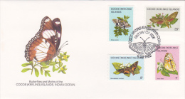 Cocos (Keeling) Islands 1982 Butterflies FDC Dated 6 Sep 82 - Cocos (Keeling) Islands