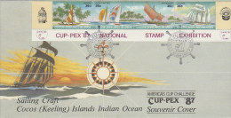 Cocos (Keeling) Islands 1987 Cup-Pex National Stamp Exibition FDC - Cocos (Keeling) Islands