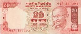 BILLETE DE LA INDIA DE 20 RUPIAS SIN CIRCULAR-UNCIRCULATED  (BANKNOTE) - India