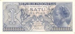 BILLETE DE INDONESIA DE 1 RUPIAH AÑO 1956   (BANKNOTE) SIN CIRCULAR-UNCIRCULATED - Indonésie