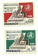 1966 - Monaco 703/04 Organizzazione Della Sanità, - WHO