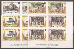 AGRICULTURA - SAN VINCENTE 1985 - Yvert #878/81 (bloque De 4 Sin Dentar) - MNH ** - Agricultura