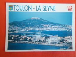 83 - TOULON - LA SEYNE, Entrée Du Porte-avions Foch Dans La Rade, Perspective Sur La Seyne Et La Fôret De Six Fours - Toulon
