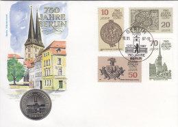 DDR 3023-3026 - 750 J. Berlin, Auf Numisbrief, 5 MARK, Berlin Nikolai-Viertel (Battenberg/Schön Nr. DDR 113) - [ 6] 1949-1990 : RDA - Rep. Dem. Tedesca