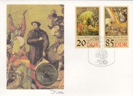DDR 3271, 3273 - Thomas Müntzer, Auf Numisbrief, 5 MARK, Zwickau Katharinenkirche (Battenberg/Schön Nr. DDR 124) - [ 6] 1949-1990 : RDA - Rép. Démo. Allemande
