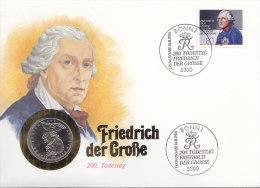 BRD 1292 - 200. Todestag Friedrich Der Große Auf Numisbrief, 5 DM, Friedrich Der Große (Battenberg/Schön BRD 164) - [10] Commémoratives