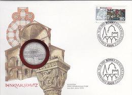 BRD 1291 - Denkmalschutz 1986 Auf Numisbrief, 5 DM, Europ. Denkmalschutzjahr 1975 (Battenberg/Schön BRD 141) - [10] Commemorative